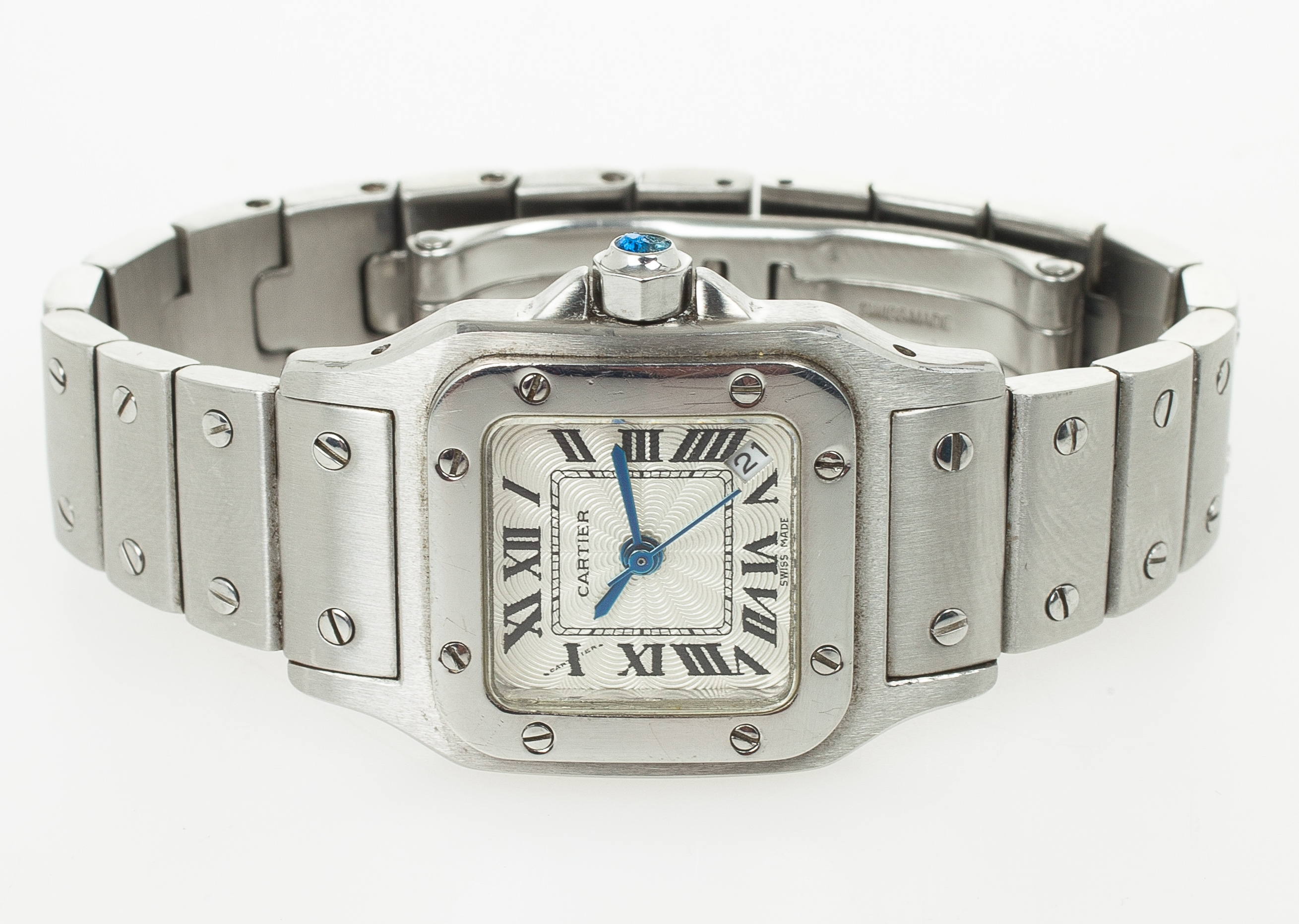 watches men large automatic santos watch s cartier steel