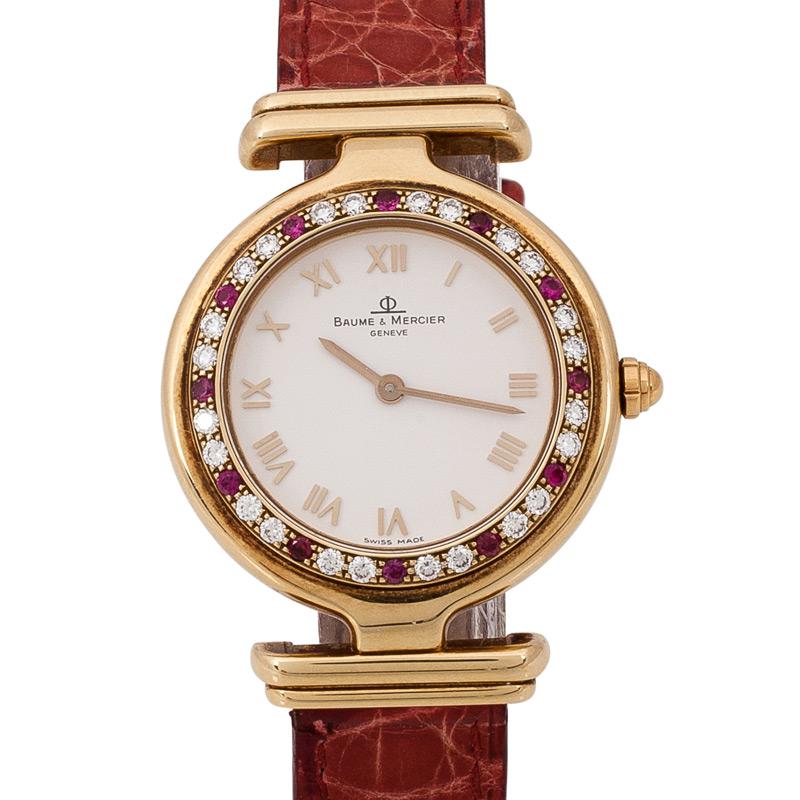 Baume & Mercier 18K Womens Wristwatch 30MM Dhs18,000