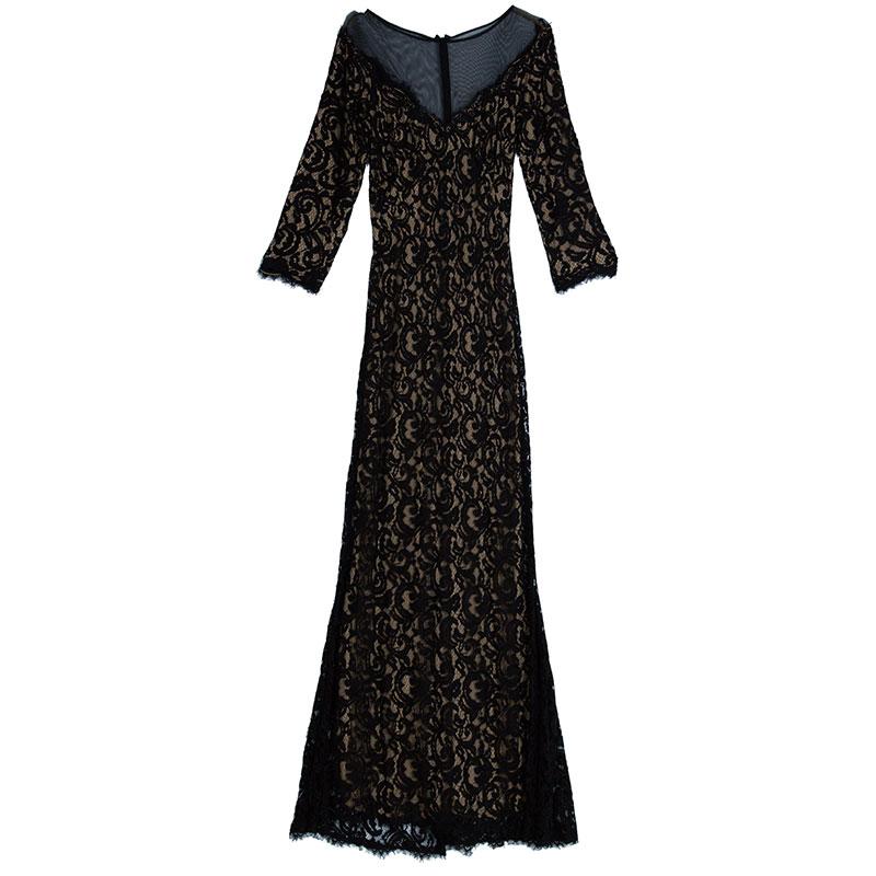 Monochrome Lace Gown L USD Monochrome Lace Gown L
