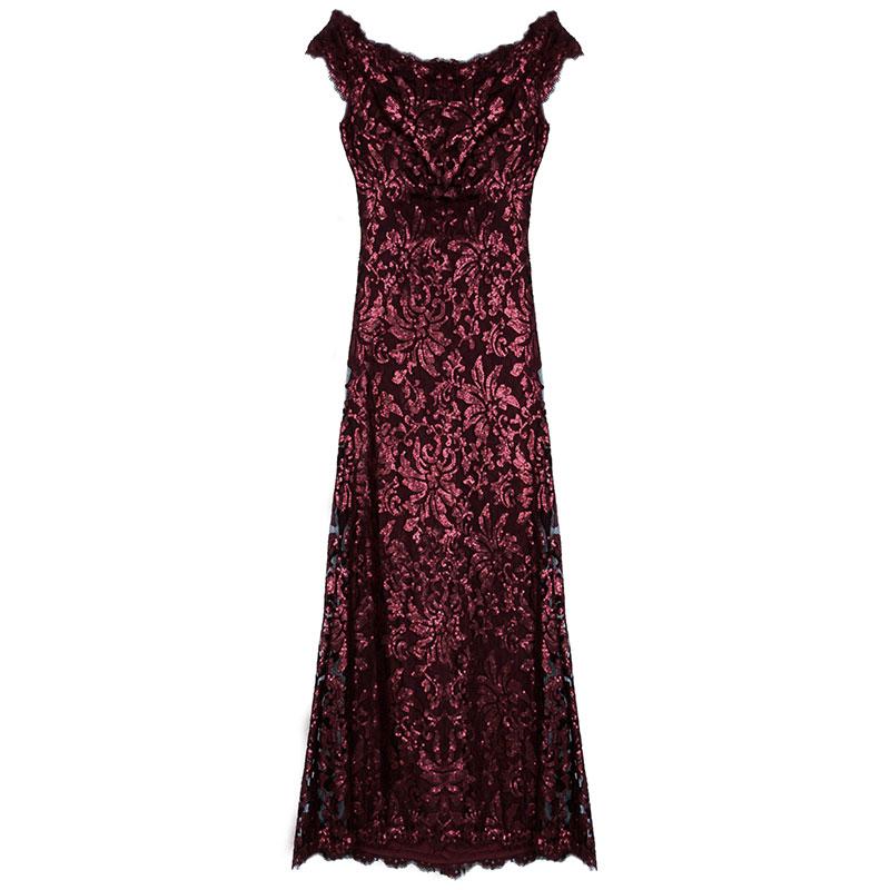 Red Sequin Merlot Gown L USD 437