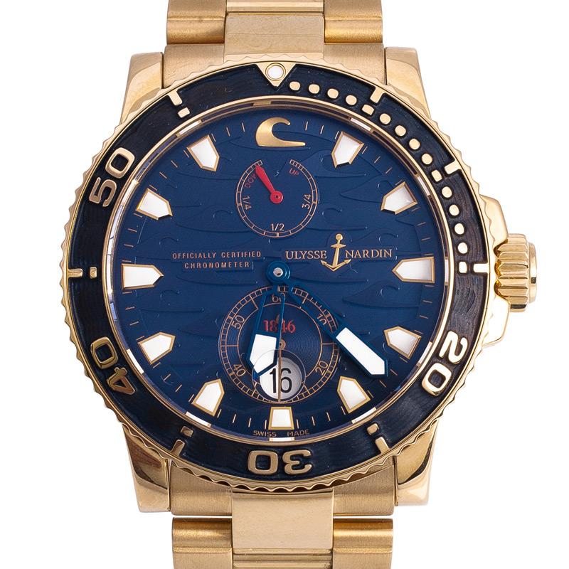 Ulysse Nardin Limited Edition 18K Mens Wristwatch 42MM Dhs99,500