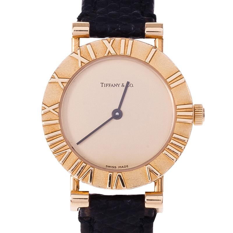 Tiffany & Co. 18k Gold Wristwatch 30MM Dhs5,100