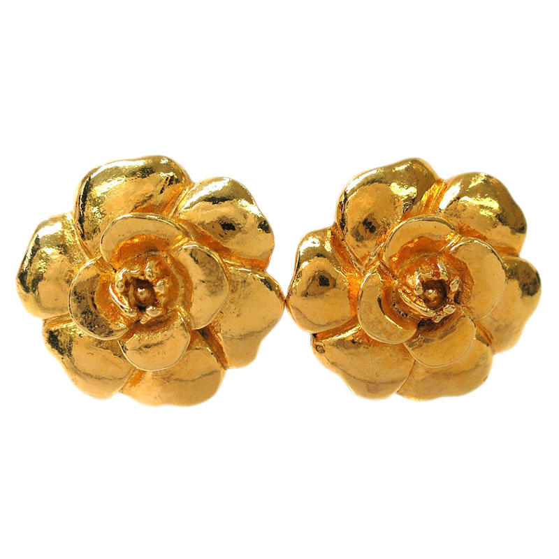 Chanel Camelia Earrings