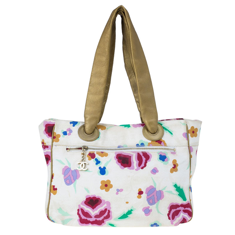 Off-White and Floral Canvas Coco Marc Tote USD 695