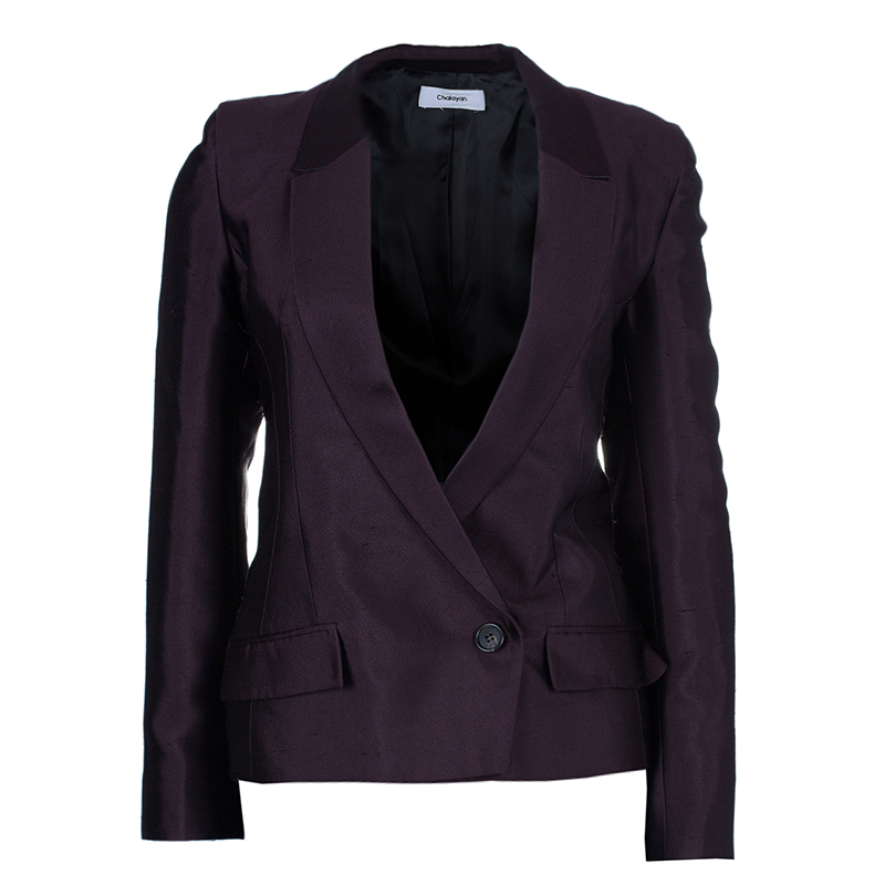 Burgundy Sculpted Amaranth Jacket S USD 658