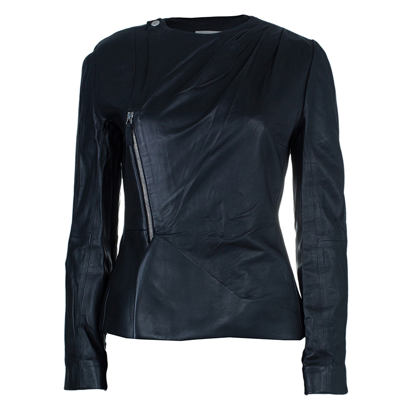 Leather Zipper Jacket M USD 858