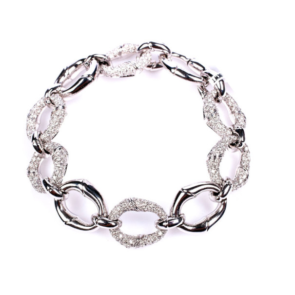 Gucci 18 K White Gold Diamond Bracelet USD 21,999