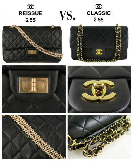 chanel classic flap bag vs reissue 255 whats the