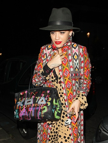 Rita Ora seen arriving home after a day of shooting for Rimmel in London