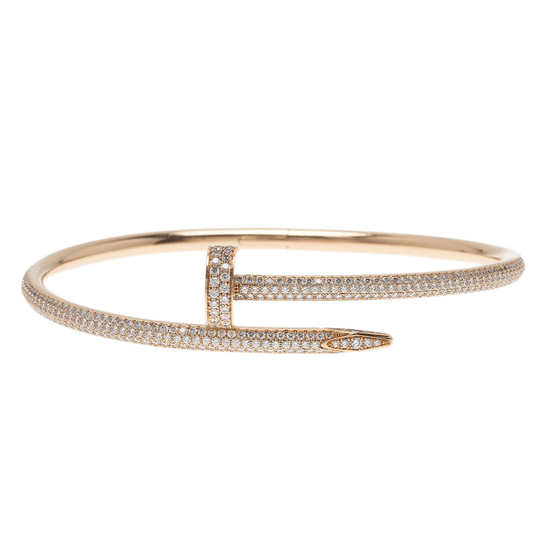 Cartier Juste Un Clou Diamond Paved Rose Gold Bracelet