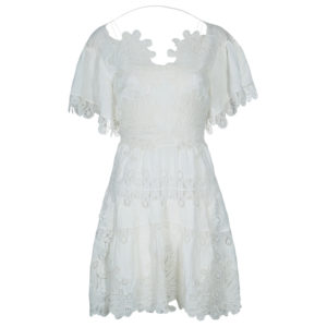Chloe White Lace Dress S