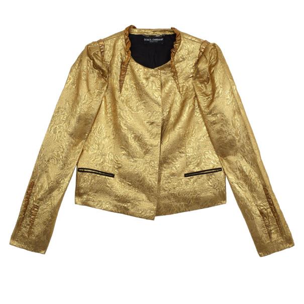 Dolce and Gabbana Silk Brocade Evening Jacket S